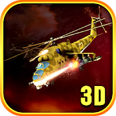 Gunship Helicopter Military 3D