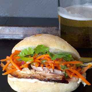 Slow Roasted Pork Shoulder Bahn Mi Sliders
