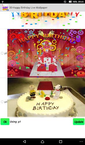 Happy Birthday Live Wallpaper Android App Screenshot
