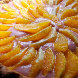 Citrus Tart with Blood Orange Curd.