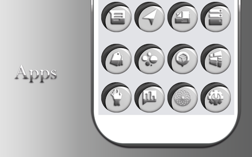 Download Grayish White Icons Pack MOD APK 10