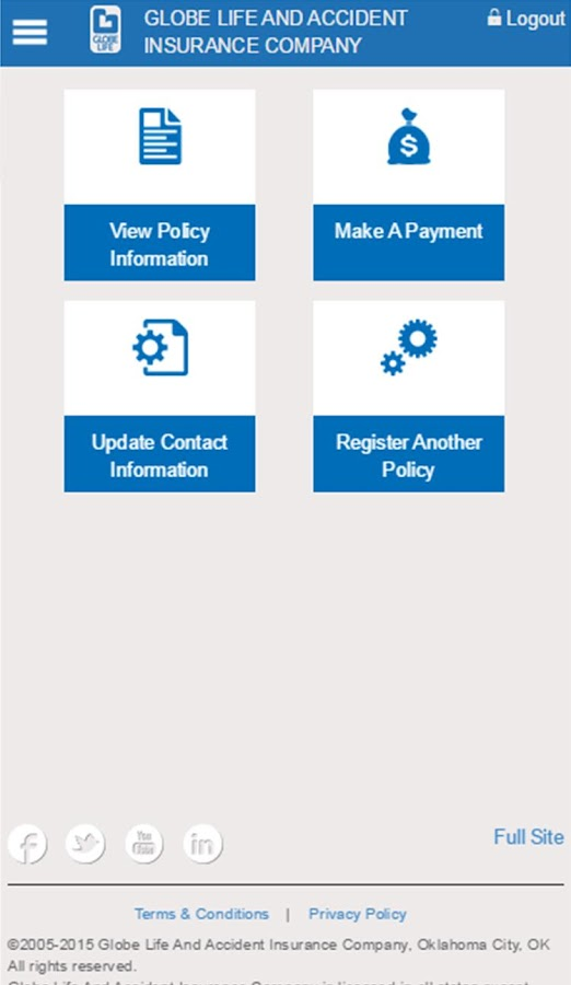 Globe Life Insurance- screenshot