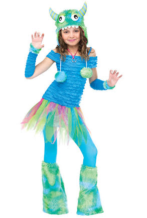 Barndräkt, Blå monsterklänning