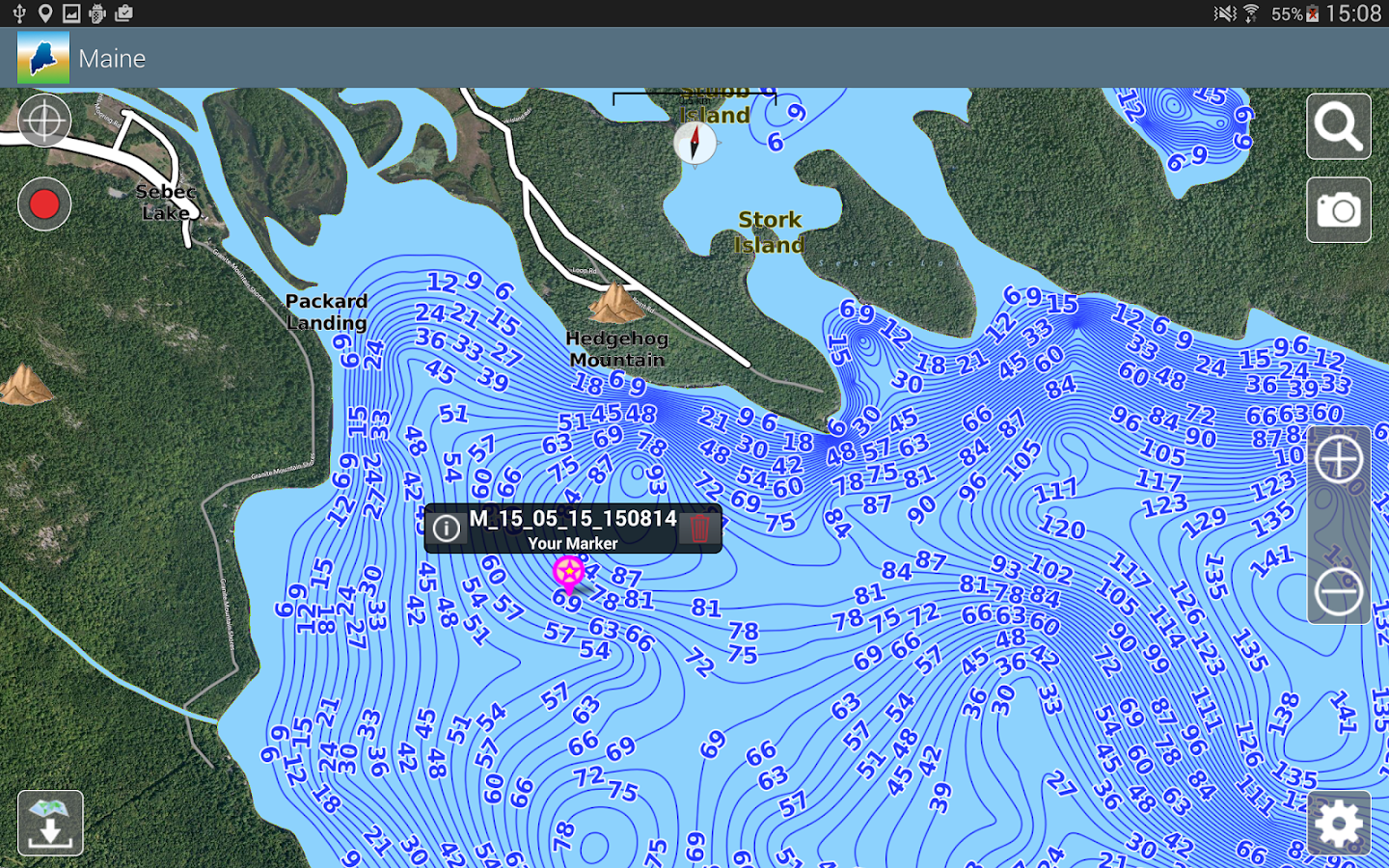 Aqua Map Maine Lakes GPS Android Apps On Google Play - Maine lakes map