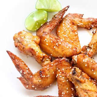 Maple Glazed Baked Chicken Wings
