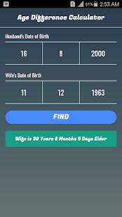 aldersforskjell kalkulator dating over dammen dating