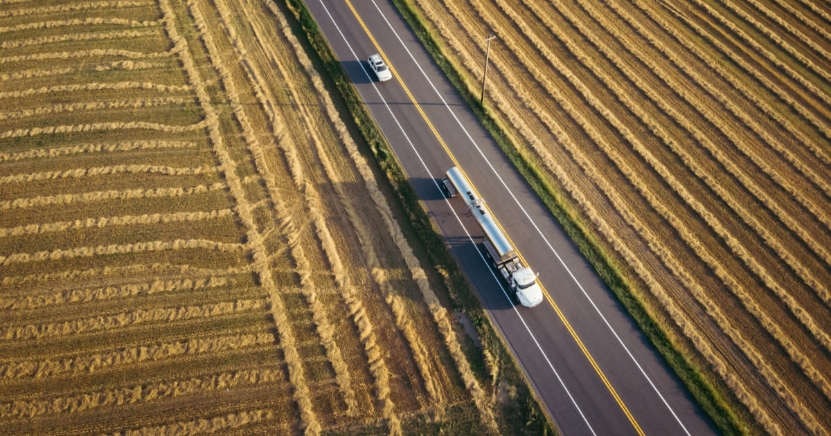 Truck driving in field, filing for UCR registration