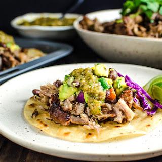 Pork Carnitas Tacos with Mango Black Bean Salsa.