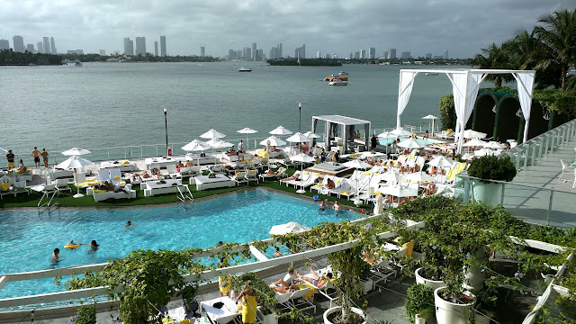 most beautiful pool in Miami: Mondrian Hotel in Miami, Florida, United States