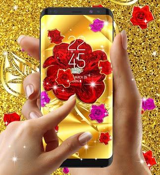 Gold Rose Live Wallpaper Poster
