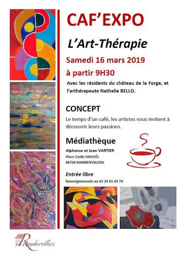 caf expo art therapie par Nathalie Bello