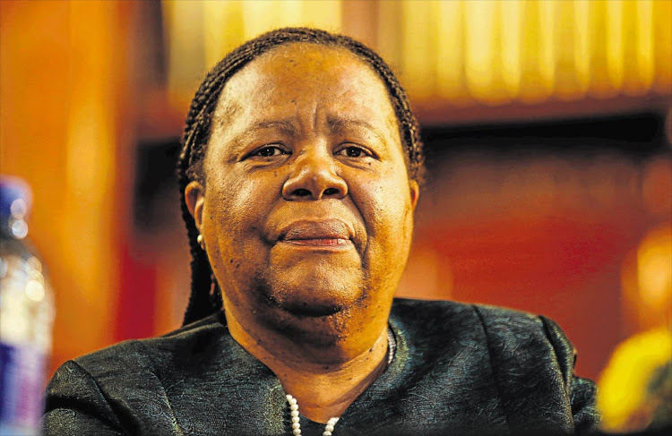 Higher education and training minister Naledi Pandor. Picture: SUNDAY TIMES/SIMPHIWE NKWALI