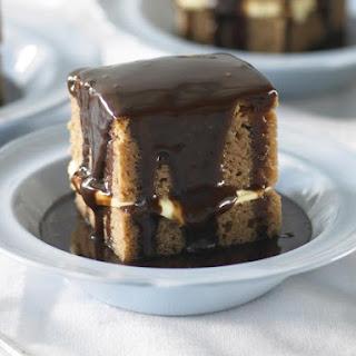 Milk Chocolate Mud Cake with Hot Fudge