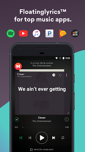 Musixmatch Lyrics Screenshot