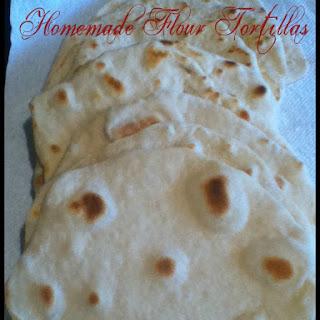 Homemade Flour Tortilla Shells