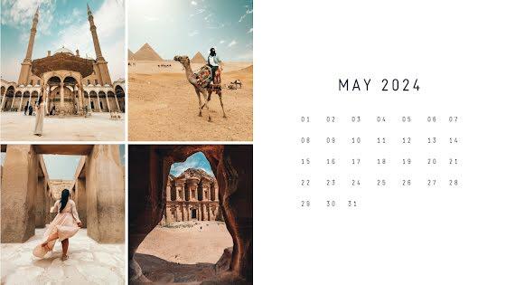 Desert Monthly - Calendar Template