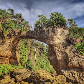 Howrah Bridge at Neil Island by Abhisek Datta - Landscapes Travel ( bridge, sea )