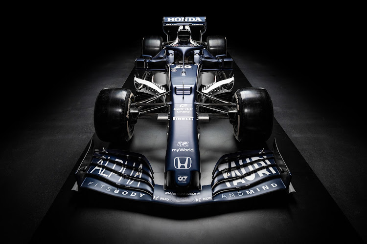 The AT02 seen during the Suderia AlphaTauri AT02 Livery Reveal 2021 - Fashion meets Formula 1 in Salzburg, Austria on February 15 2021