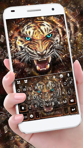 Roaring Fierce Tiger Keyboard Theme screenshots 1