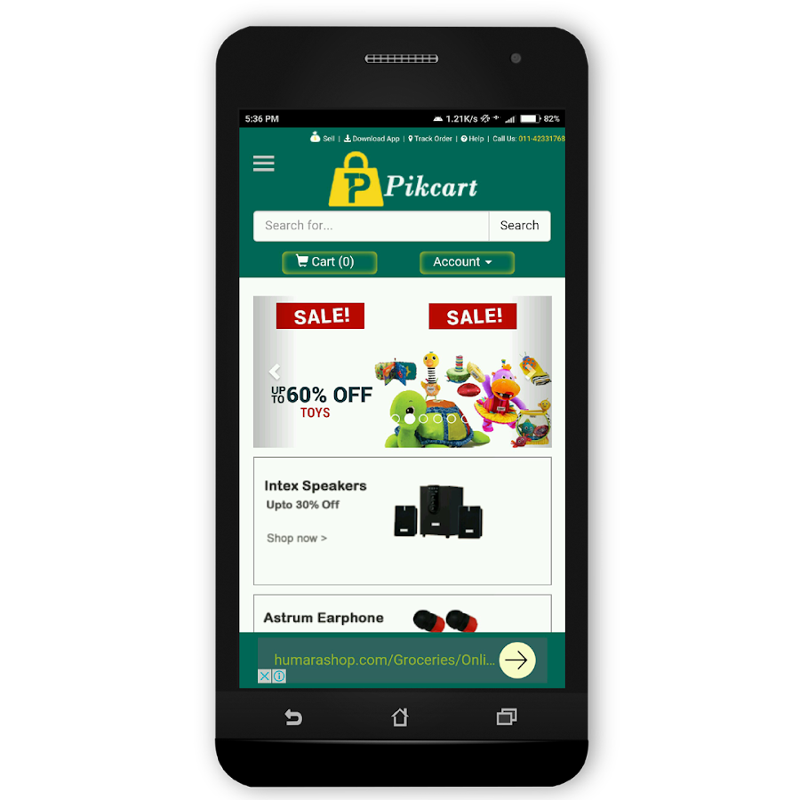 Pikcart Online Shopping- screenshot