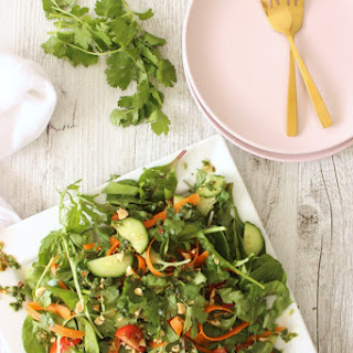Fresh Thai Salad with Coriander Dressing Recipe