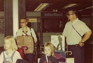 Photo: 19740715 Salla, Salli, Sanna, Asko - Paluu Amerikasta