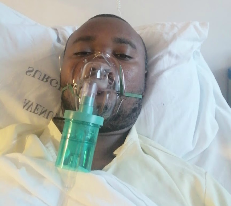 Robert Kariuki, 36, found help at Avenue Hospital, where had to wait eight hours for another patient to be discharged.