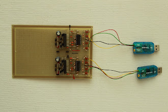 Photo: Placa dos componentes com a placa USB
