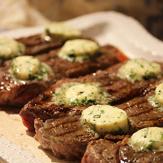 New York Steaks with Truffle Chive Butter