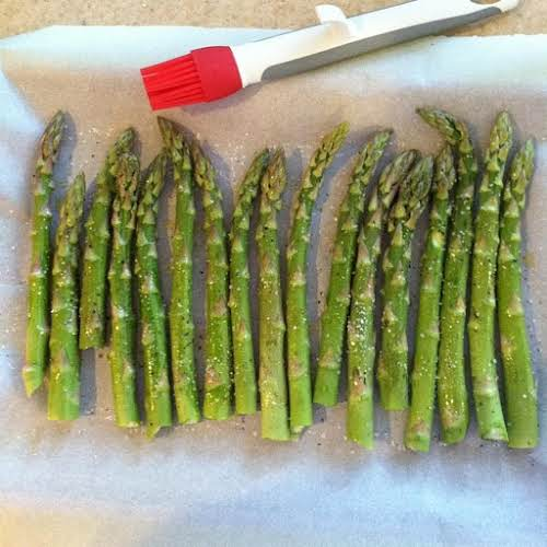 "Oven-Roasted Asparagus ""I love asparagus this way. I usually eat two or..."