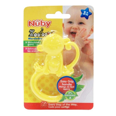 mordedor nuby zooloops + 3meses