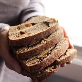 No Knead Sourdough Cinnamon Raisin Bread.