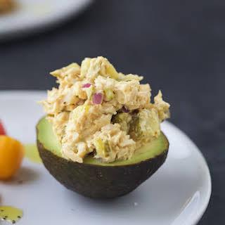 Healthy Tuna Salad Stuffed Avocado.