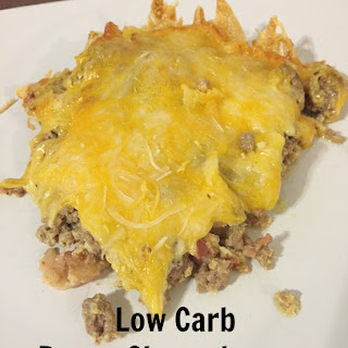 Low Carb Bacon Cheeseburger Casserole.