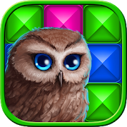 Pixel art. Color cross in the Owls' Kingdom  Icon