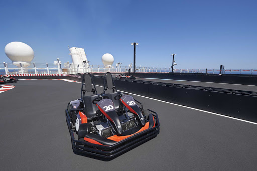 Race your friends on Norwegian Joy at the Go-Kart track.