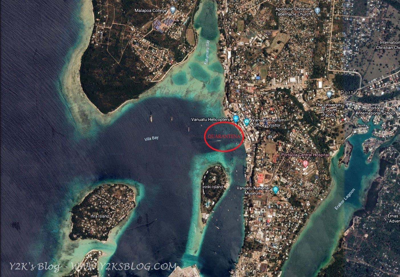 Port Vila Inner Harbour e area di quarantena - Efate
