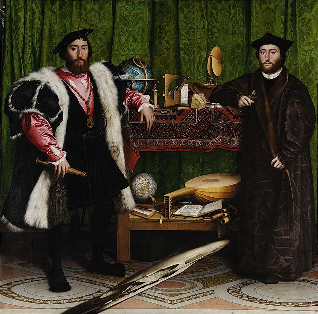 """""""Los embajadores"""" Hans Holbein el Joven 1533"""