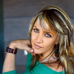 Green eyes by Cristobal Garciaferro Rubio - People Portraits of Women ( fashion, green, green eyes, hair, eye, eyes )