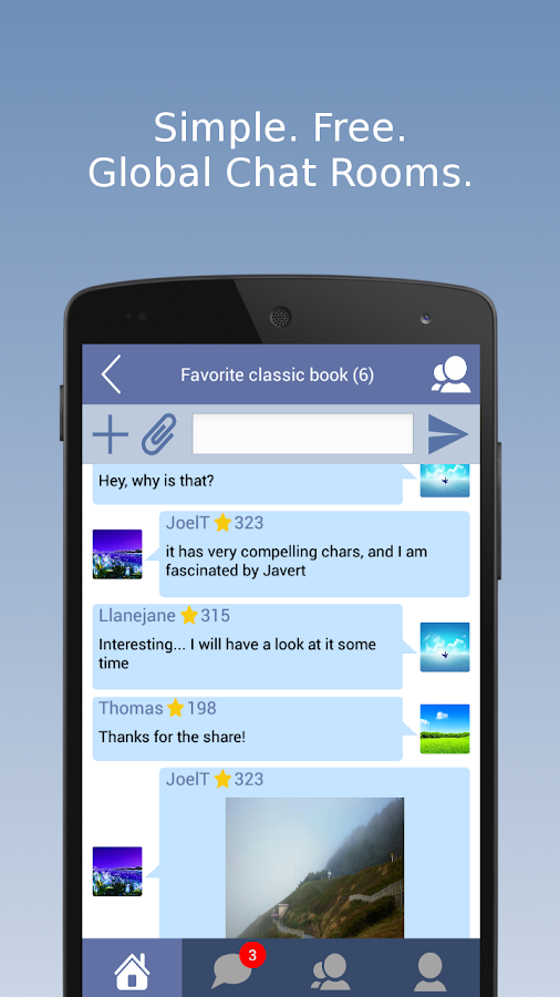 SwiftChat: Global Chat Rooms- screenshot