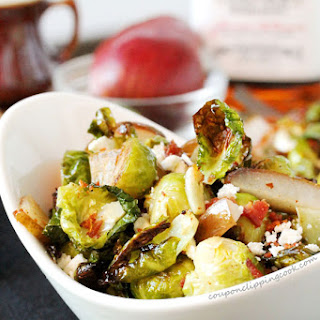 Bourbon and Maple Brussels Sprouts with Pear and Feta