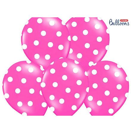 Ballonger - Rosa med vita prickar