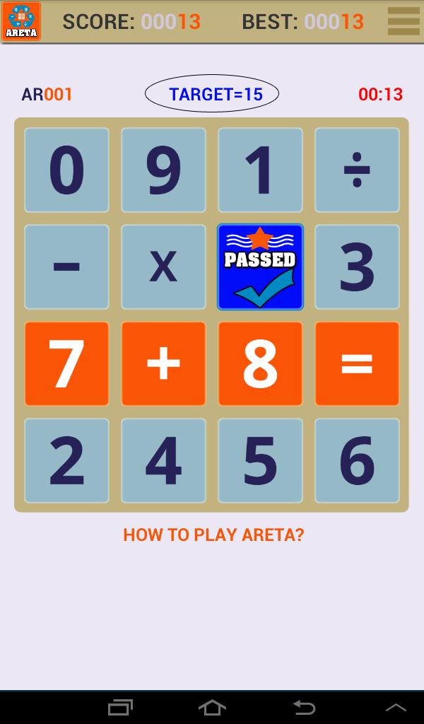 Скриншот Math Areta