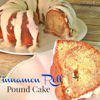Cinnamon Roll Pound Cake.