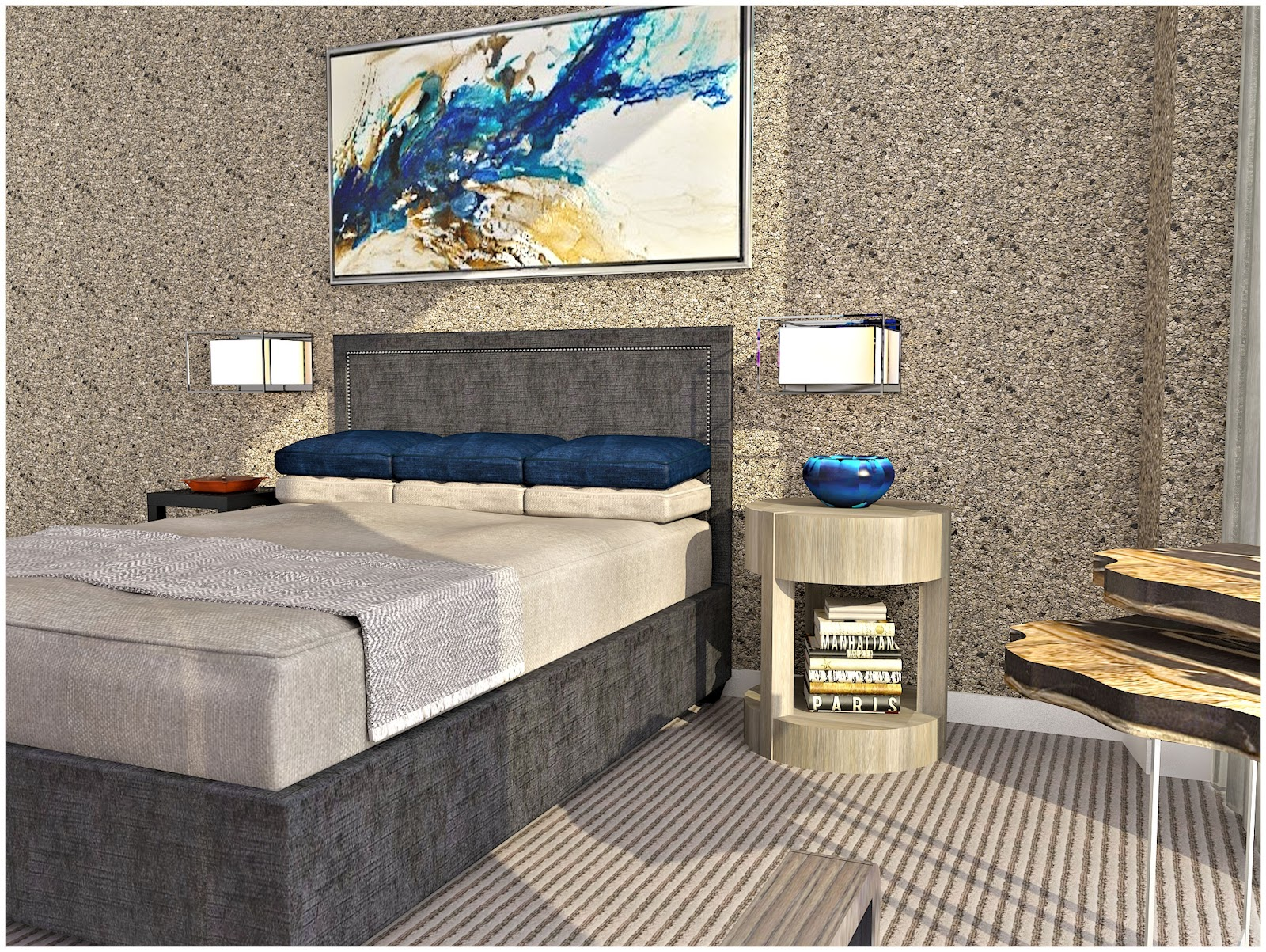 Interior Design Project - Anaha Tower Contemporary Remodel | CIH Design | guest suite