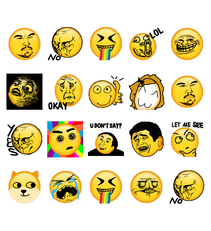 Rage face emoji sticker for whatsapp screenshot