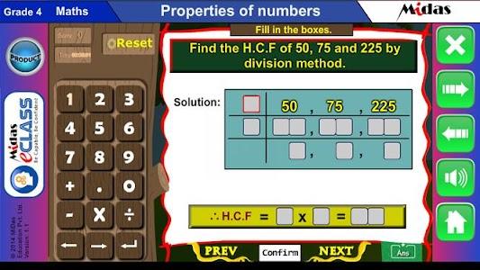 MiDas eCLASS Maths 4 Demo screenshot 5
