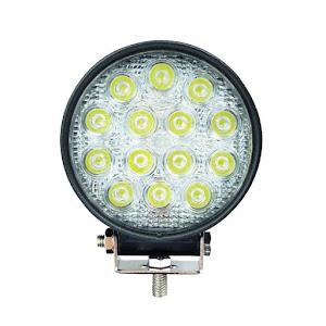 Set 4 proiectoare rotunde, 14 LED 48W auto off-road, IP 67