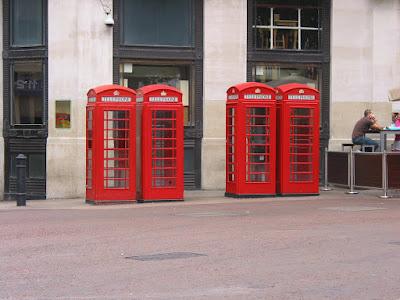 Cabinas telefónicasbritánicas