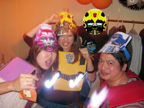 Photo: Arcee (Toshika), Bumblebee (Hotsumi), the Boy & Optimus Prime (Takao) at Ola Tacos Bar, in Shinsaibashi, Osaka